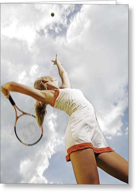 Women Tennis Greeting Cards - Tennis Greeting Card by Steve Williams