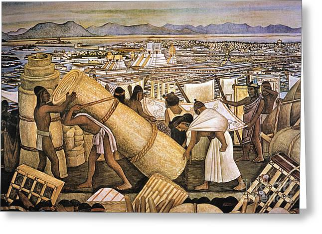 Tenochtitlan (mexico City) Greeting Card by Granger