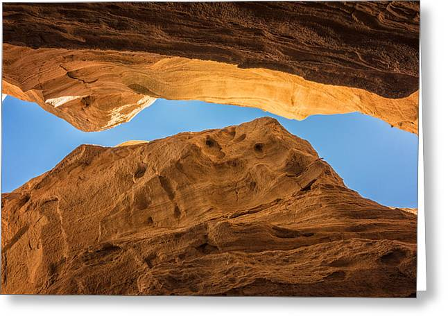 Scenic Greeting Cards - Tent Rocks Slot Canyon 3 - Tent Rocks National Monument New Mexico Greeting Card by Brian Harig
