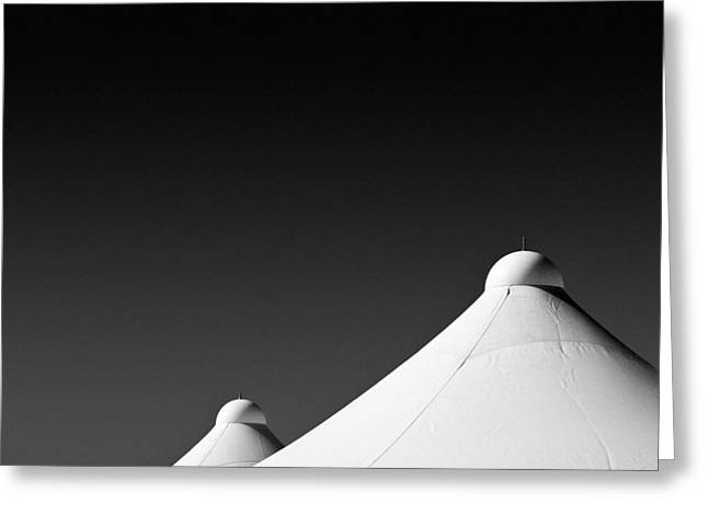 Black Top Greeting Cards - Tent Tops Greeting Card by Dave Bowman