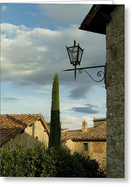 Chianti Greeting Cards - Tenth Century Villa In Tuscany Greeting Card by Todd Gipstein