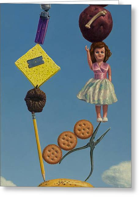 Dolls Greeting Cards - Tenuous Still-Life 2 Greeting Card by James W Johnson