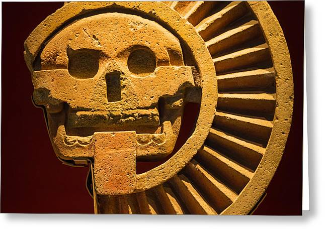 Teotihuacan Skull Greeting Card by Inge Johnsson