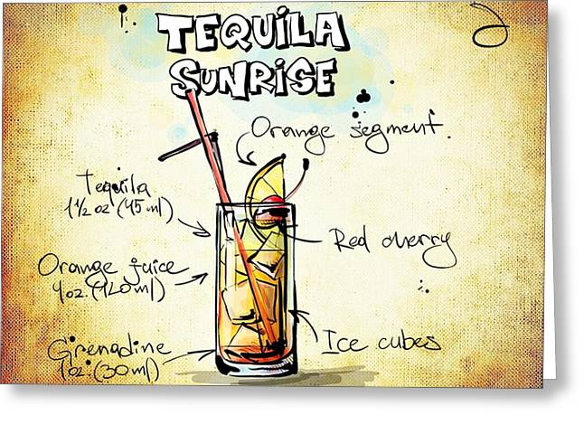 Gathering Mixed Media Greeting Cards - Tequila Sunrise  Greeting Card by Movie Poster Prints
