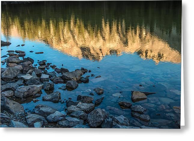 Teresa Greeting Cards - Teresa Lake Sunset Greeting Card by Joseph Smith