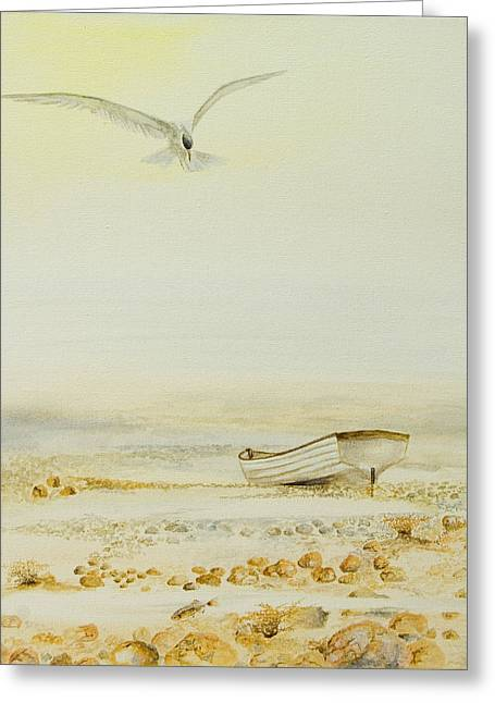 Tern Paintings Greeting Cards - Ternboat Greeting Card by Alan Pickersgill