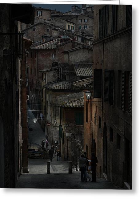 Sienna Italy Greeting Cards - Terra di Siena Greeting Card by Jim Manganella