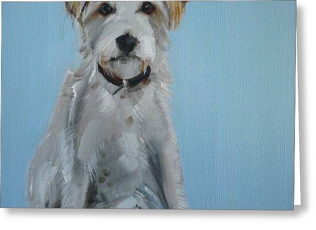 Best Friend Greeting Cards - Terrier Greeting Card by Sally Muir