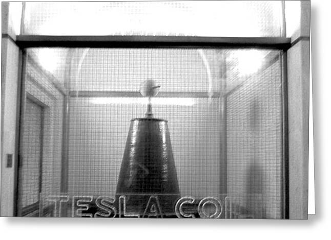 Tesla Coil Greeting Card by Jera Sky