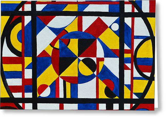Abstract Geometric Greeting Cards - Test Pattern Greeting Card by James Pinkerton
