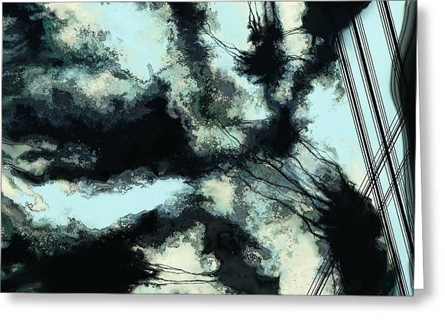 Turbulent Skies Greeting Cards - Tethered sky Greeting Card by Keith Mills