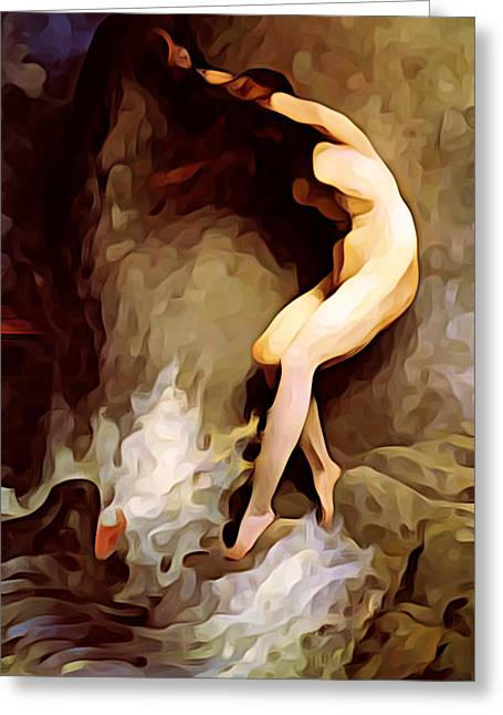 Intrigue Greeting Cards - Tethys Appeals to Oceanus Greeting Card by Jeff Iverson