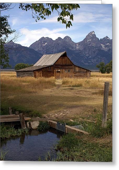 Teton Barn 2 Greeting Card by Marty Koch