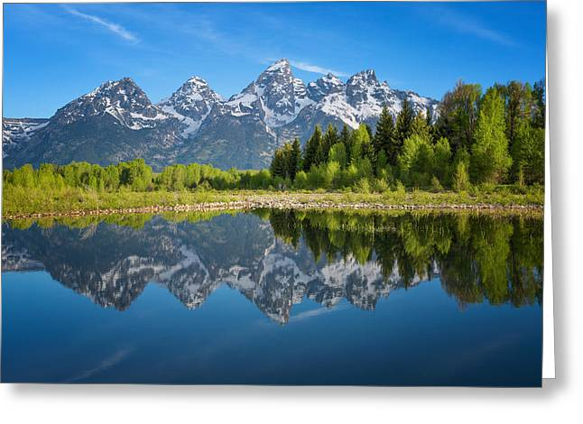 Snake River Greeting Cards - Teton Reflection Greeting Card by Darren  White
