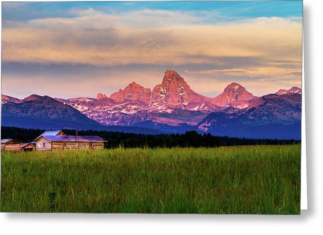 Teton Valley Sunset Greeting Card by TL  Mair