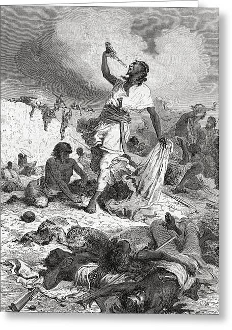 Commit Greeting Cards - Tewodros Ii Committing Suicide Greeting Card by Ken Welsh