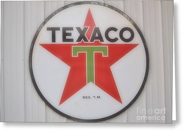 Old Barns Greeting Cards - Texaco Sign  Greeting Card by Jennifer Craft