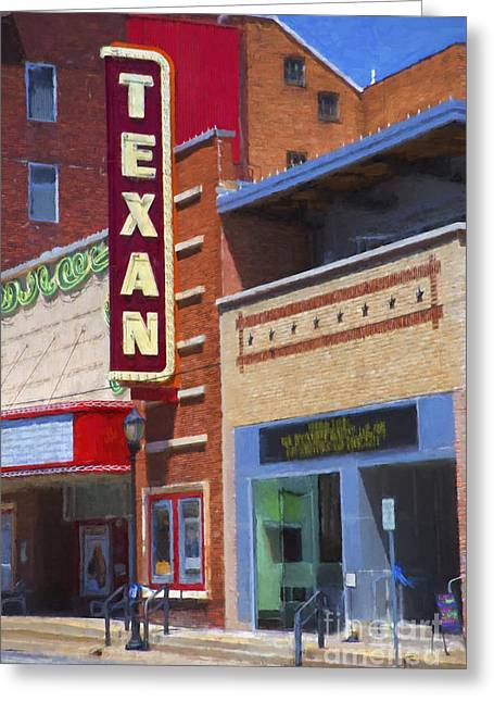Movie Art Greeting Cards - Texan Theater Greeting Card by Elena Nosyreva