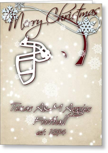 M Court Greeting Cards - Texas Am Aggies Christmas Card 2 Greeting Card by Joe Hamilton