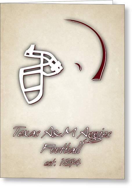 M Court Greeting Cards - Texas Am Aggies Helmet 2 Greeting Card by Joe Hamilton
