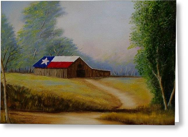 Gene Gregory Greeting Cards - Texas barn Greeting Card by Gene Gregory