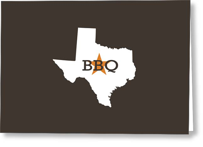 Smoker Greeting Cards - Texas BBQ Greeting Card by Nancy Ingersoll