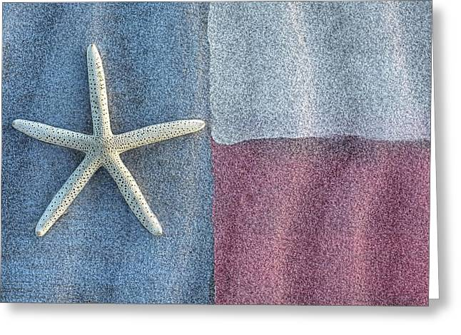 Galveston Greeting Cards - Texas Beach Flag Greeting Card by JC Findley