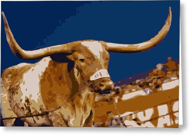 Capitol Digital Greeting Cards - Texas Bevo Color 16 Greeting Card by Scott Kelley