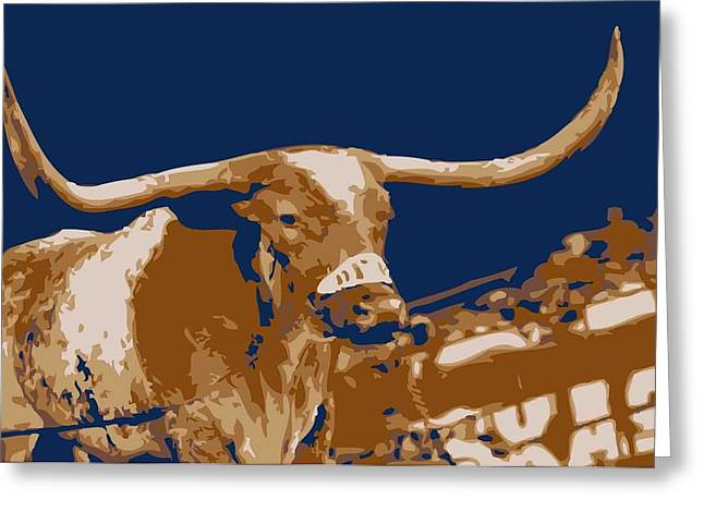Capitol Digital Greeting Cards - Texas Bevo Color 6 Greeting Card by Scott Kelley