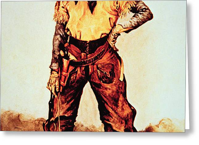 Texas Cowboy Greeting Card by Frederic Remington