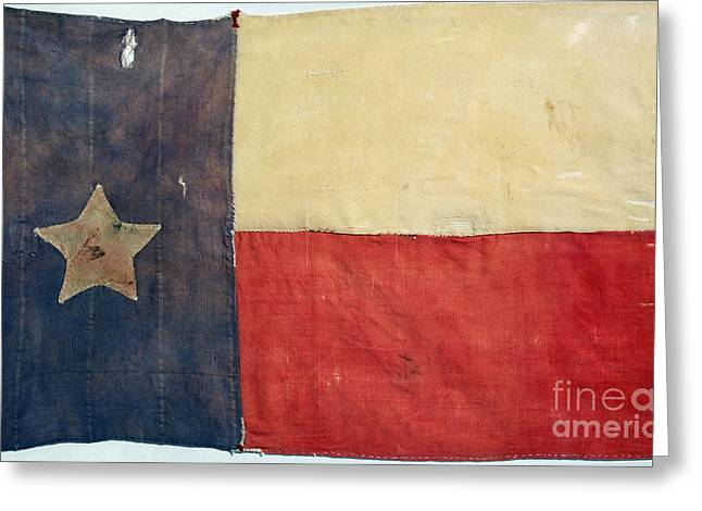 American Independance Photographs Greeting Cards - Texas Flag, 1842 Greeting Card by Granger