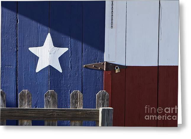 Texas Flag Painted on a House Greeting Card by Jeremy Woodhouse