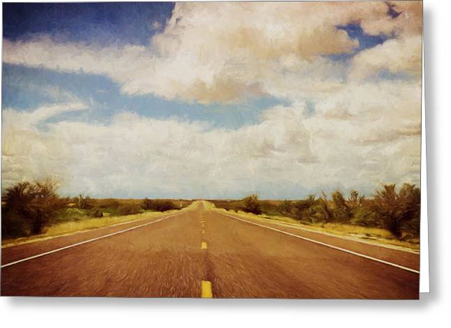 Texas Highway Greeting Card by Scott Norris