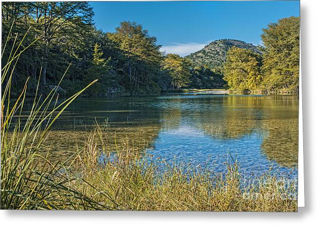 Calm Greeting Cards - Texas Hill Country - The Frio River Greeting Card by Andre Babiak