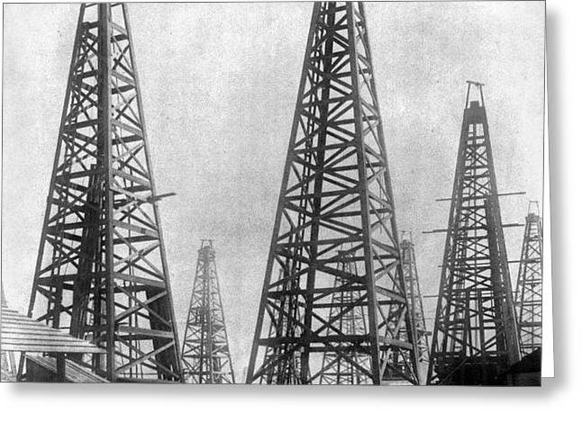 TEXAS: OIL DERRICKS, c1901 Greeting Card by Granger