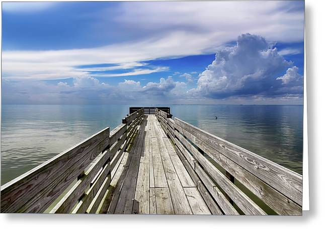 Texas Pier Greeting Card by Steven Michael