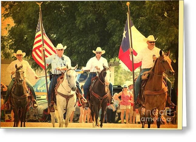 4th Of July Parade Greeting Cards - Texas Proud Greeting Card by Beth Wiseman