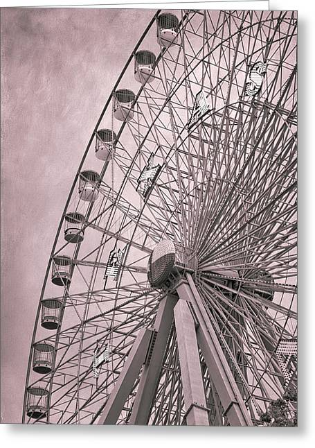 Theme Park Greeting Cards - Texas Star Copper Greeting Card by Joan Carroll