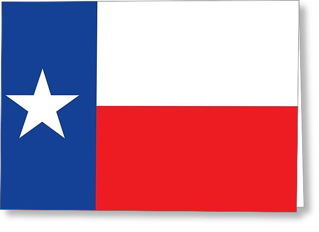 Star Shape Greeting Cards - Texas state flag Greeting Card by American School