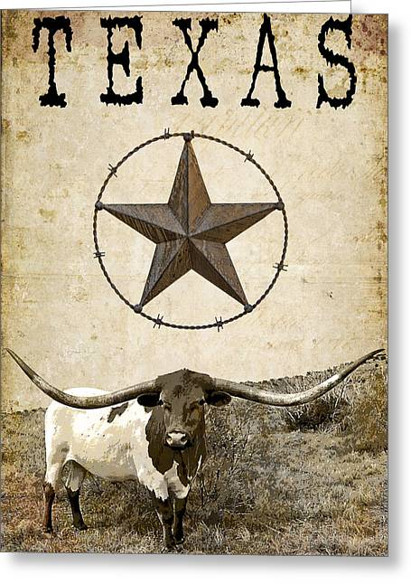 Waco Greeting Cards - Texas Tough Greeting Card by Daniel Hagerman