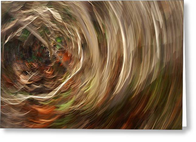 Abstracts From Nature Greeting Cards - Texas Twister Greeting Card by Bill Morgenstern