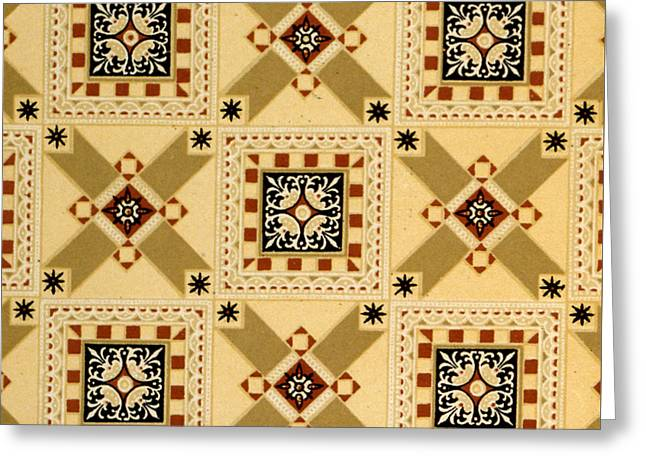 Textile Design Greeting Card by English School