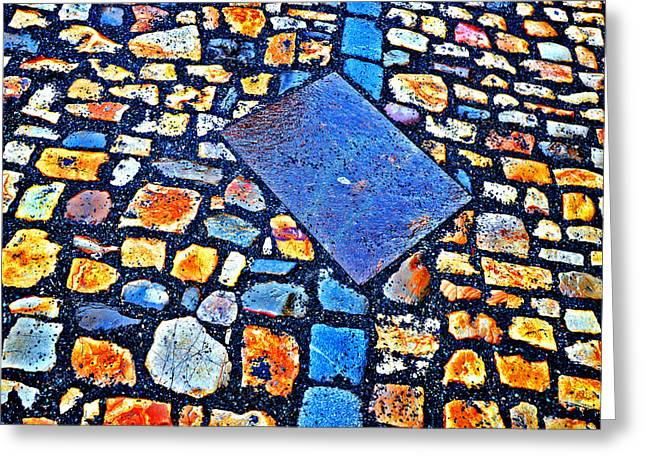 Prague Castle Digital Greeting Cards - Texture. Next To Charles Bridge. Prague. Czech Republic. Greeting Card by Andy Za