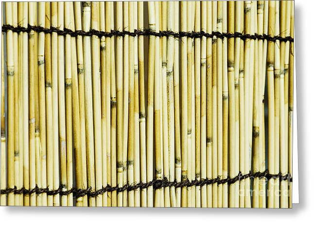 Meiji Greeting Cards - Texture of bamboo Greeting Card by Bill Brennan - Printscapes