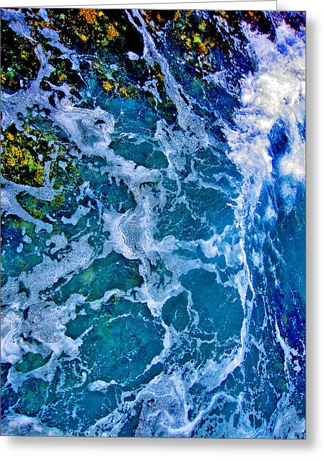 Mccoy Greeting Cards - Texture of the sea. Underwater World.  Greeting Card by Andy Za