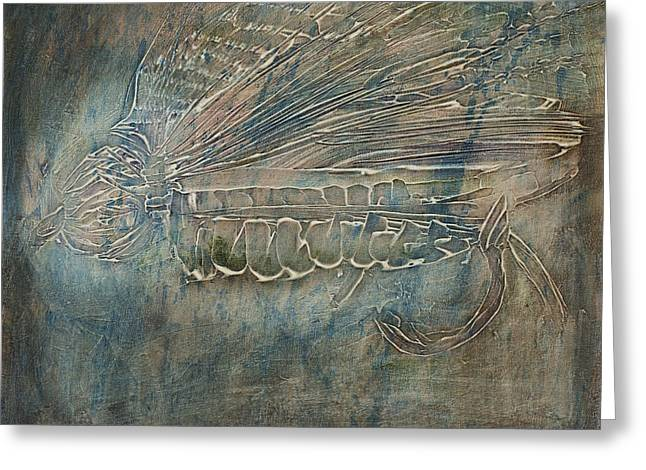 Textured Hopper Greeting Card by Jodi Monahan