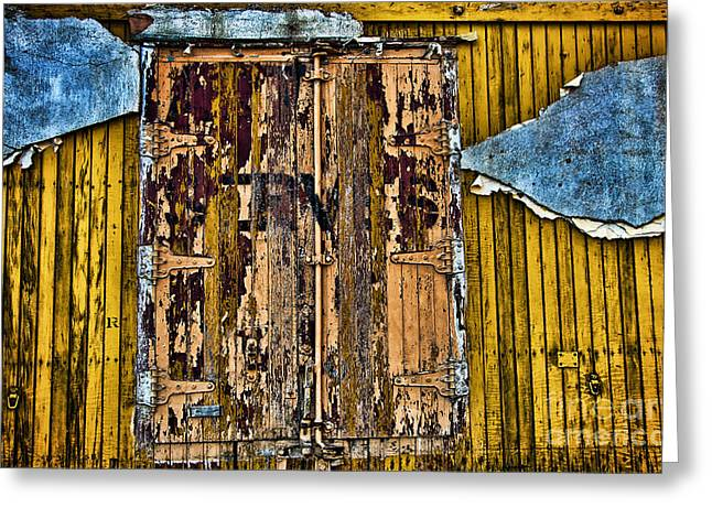 Textured Wall Greeting Card by Ray Laskowitz - Printscapes