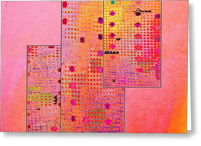 Coloured Greeting Cards - Textures 6 Greeting Card by Dorothy Berry-Lound
