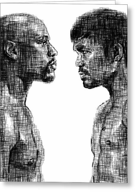 Sports Face Off Greeting Cards - Tfotc Greeting Card by Harold Belarmino