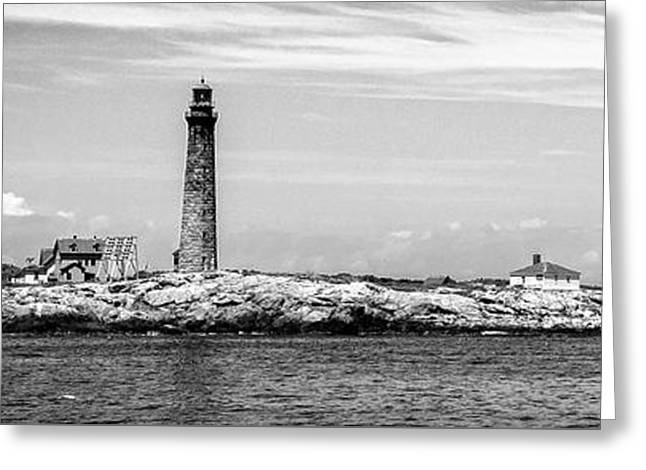 Thacher Island Greeting Card by Charles Dobbs